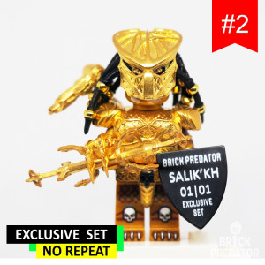 Exclusive Golden Predator Custom LEGO Minifigure Set #2