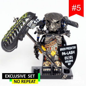 Exclusive Black Predator Custom LEGO Minifigure Set #5